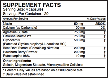 MusclePharm Hybrid N.O. Supplement Facts