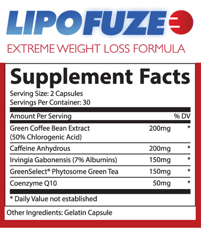 lipofuze extreme weight loss supplement product