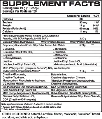 VPX Sports NO-SyntheSize Supplement Facts