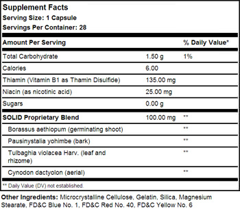 BPI Sports SOLID Supplement Facts