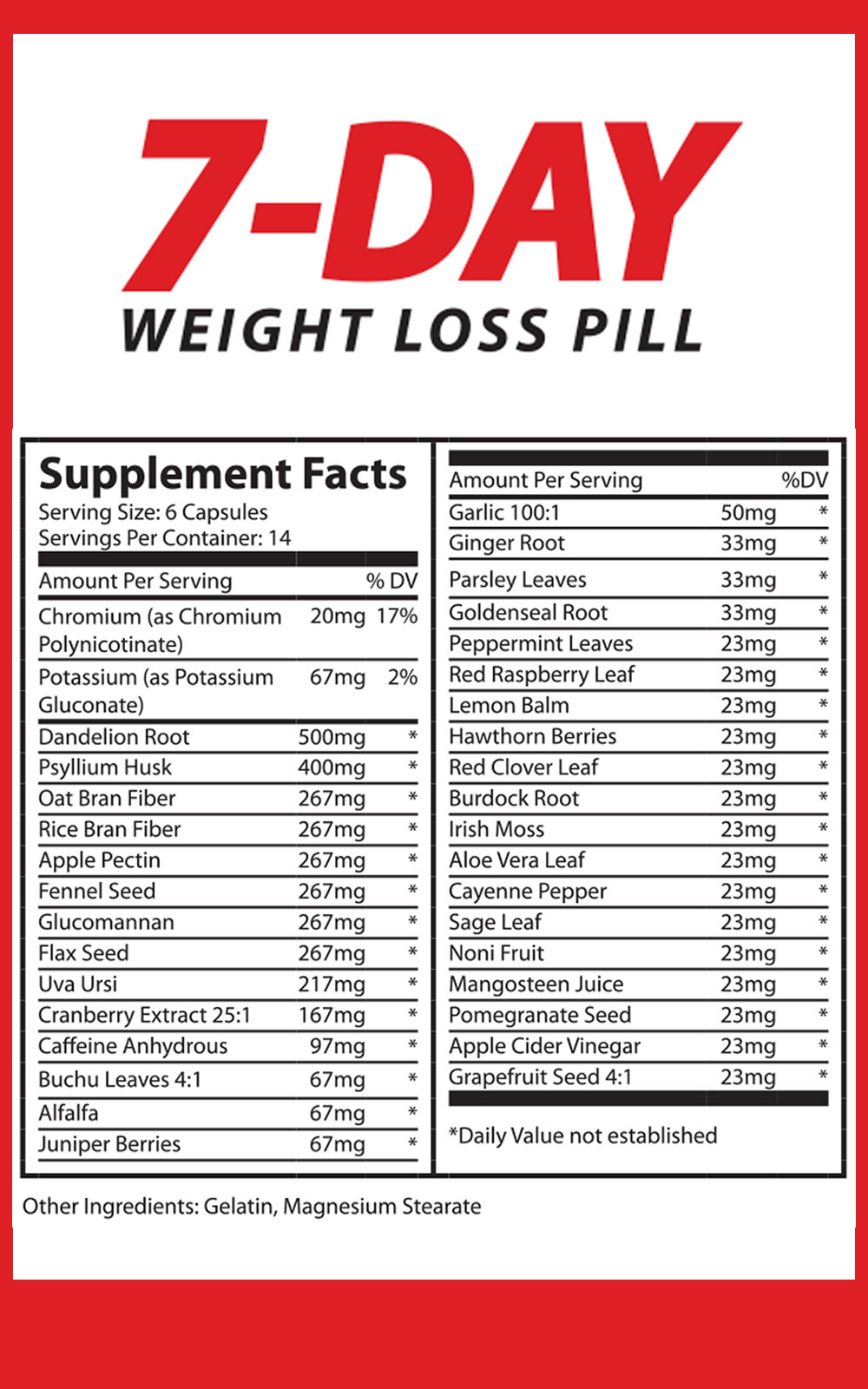 7 Day Weight Loss Pill - 7 day Weight Loss Plan - Weight ...