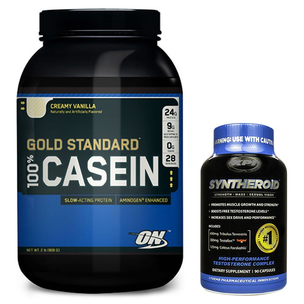 100 Casein Vanilla 2lb with Syntheroid Protein Muscle ...