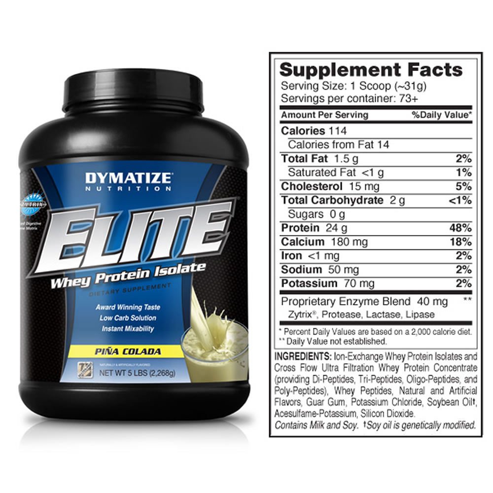 Elite whey protein isolate to lose weight