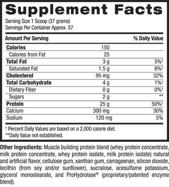 BPI Sports Whey HD Supplement Facts