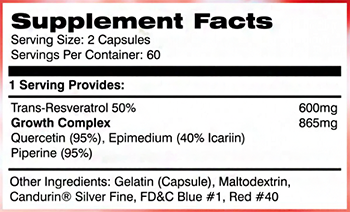 AI Sports Nutrition STOKED! Supplement Facts
