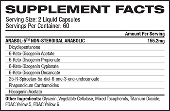 Nutrex Research ANABOL-5 Supplement Facts
