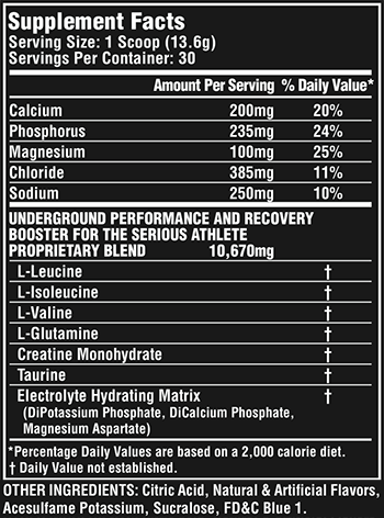Nutrex Research DEFY Black Supplement Facts