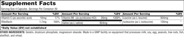 Universal Nutrition BCAA 2000 Supplement Facts