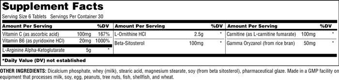 Universal Nutrition GH Max Supplement Facts