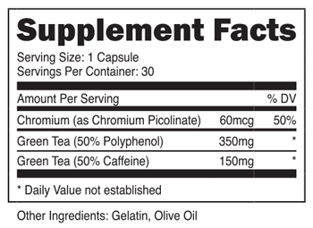 Green Tea Extract Pro Supplement Facts