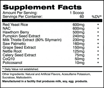 AI  Sports Nutrition Cycle Support 2.0 SuppFacts