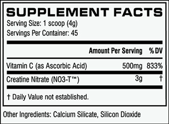 Cellucor CN3 SuppFacts
