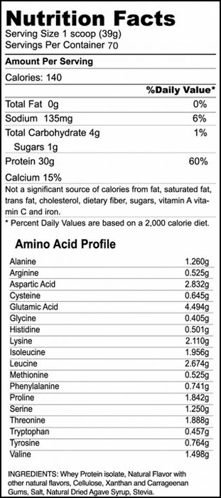 Ultimate Iso Whey SuppFacts