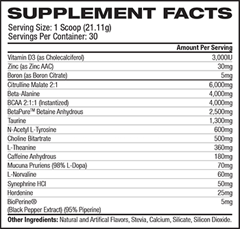 Transparent Labs PreSeries BULK Supplement Facts