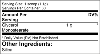 Glycerol Monosterate SuppFacts