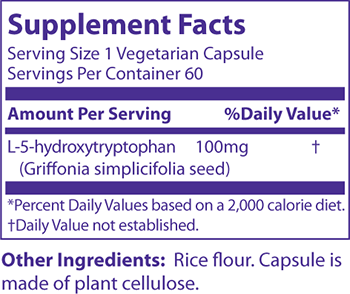 MRM 5-HTP Supplement Facts