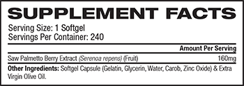 NOW Saw Palmetto Extract Supplement Facts
