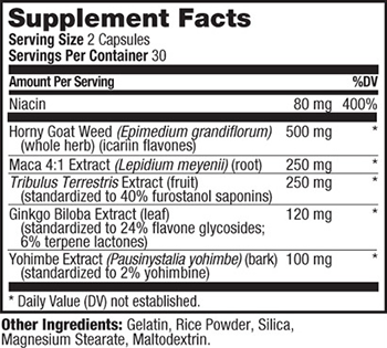 PROLAB Horny Goat Weed Supplement Facts