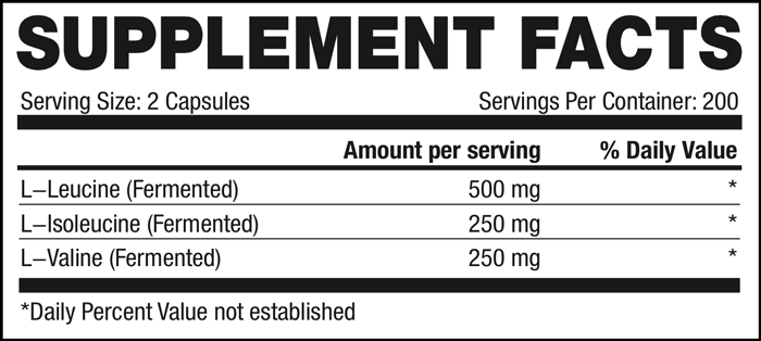 BCAA Capsules SuppFacts