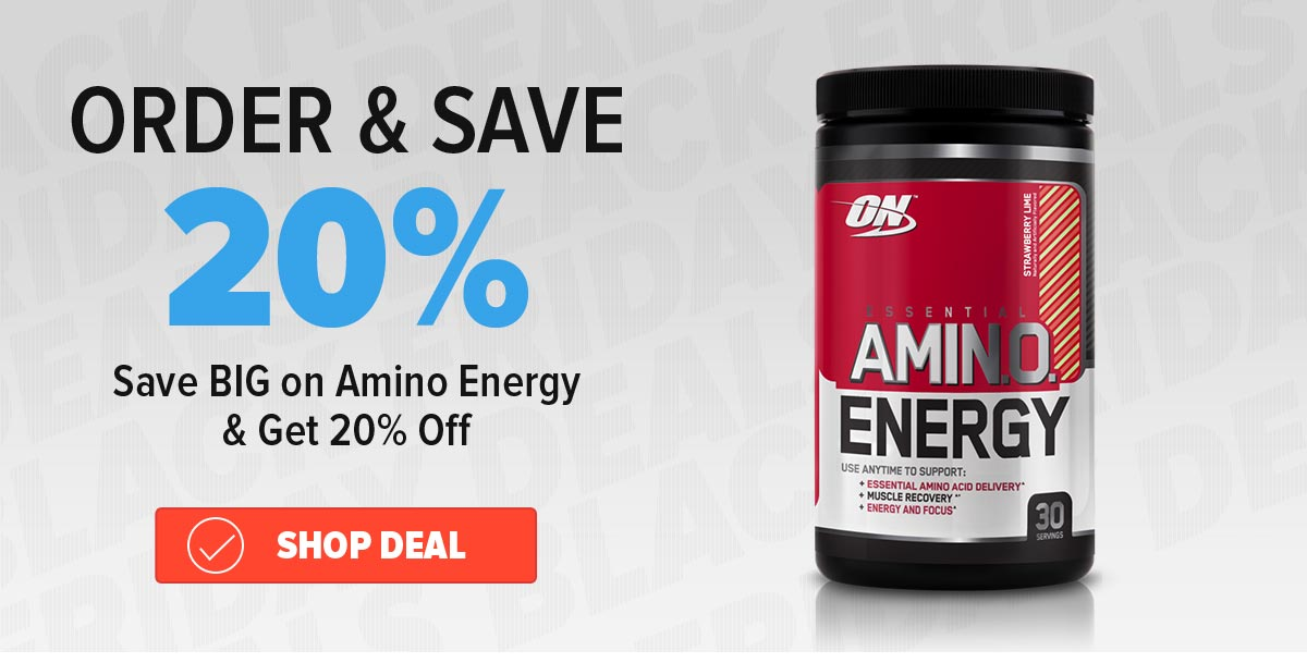 20% off amino energy Purchase Coupon Deal