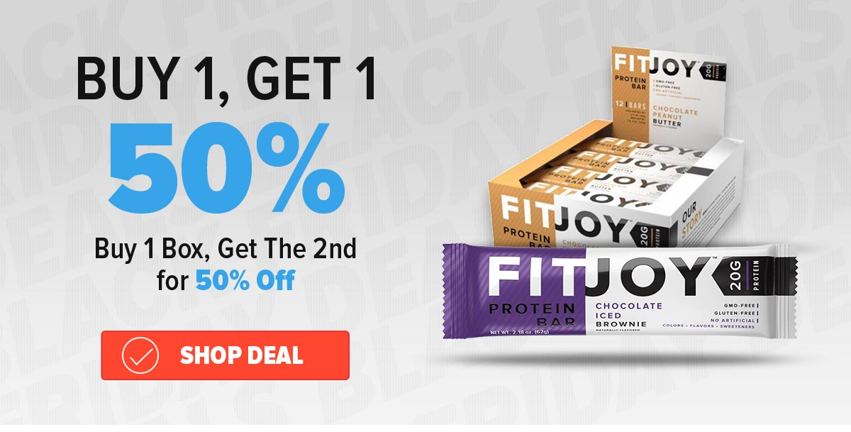 bogo 50% off fitjoy bars Purchase Coupon Deal