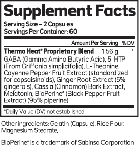 Thermo Heat Nighttime SuppFacts