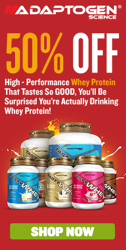 50% Off Tasty Whey!