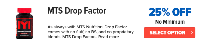 MTS Drop Factor Lowest Price Online coupon deal