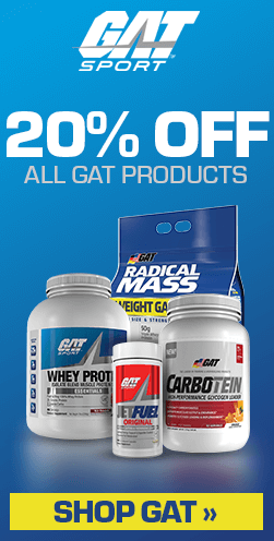 20% Off GAT Supplements