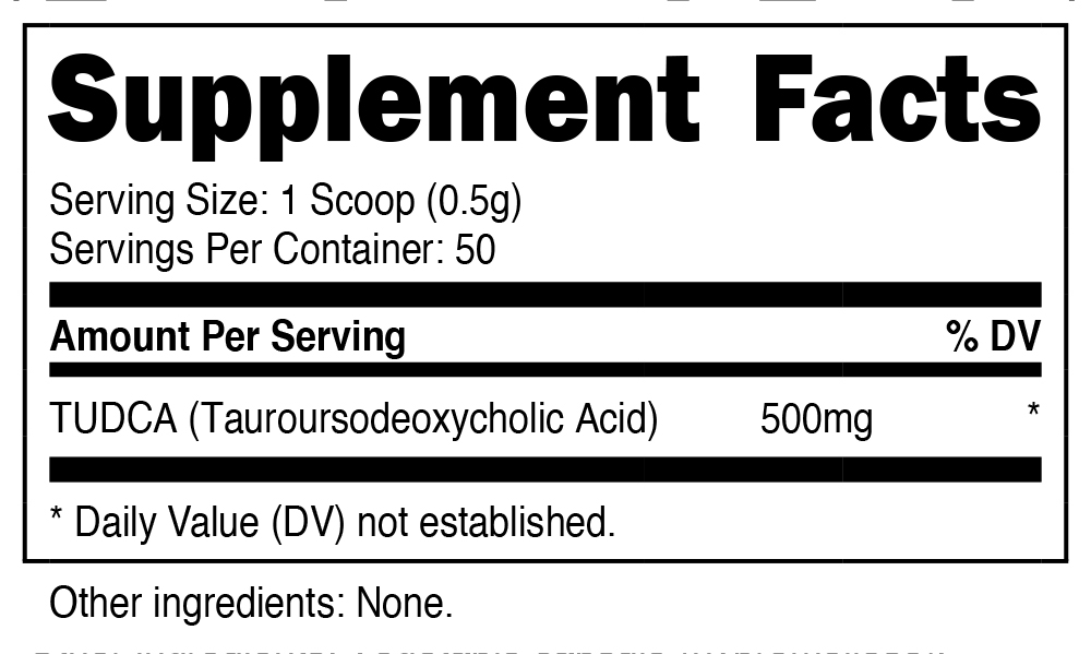 Nutricost TUDCA Supplement Facts