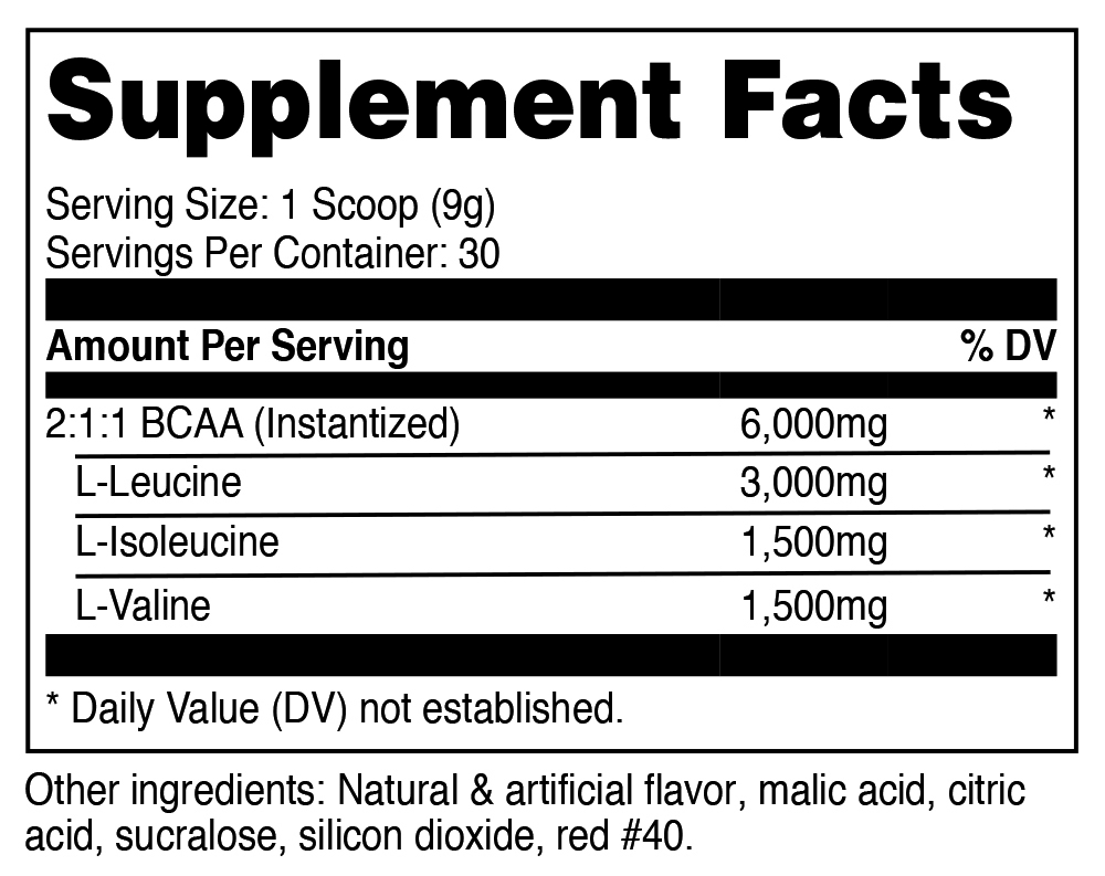 NUTRICOST BCAA SuppFacts