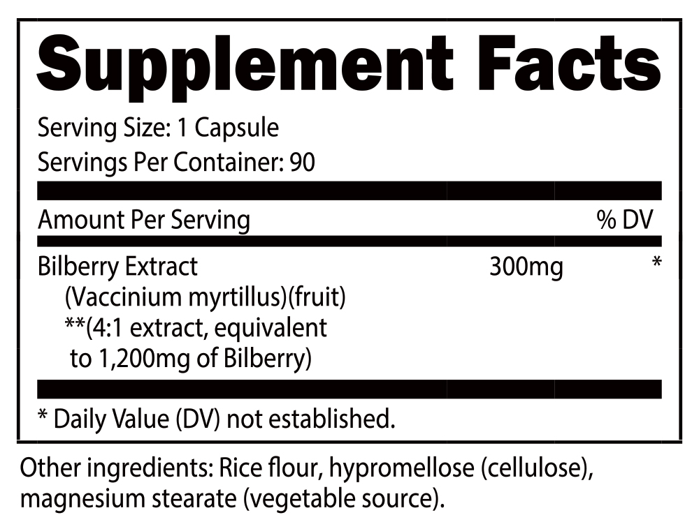 Bilberry Capsules SuppFacts